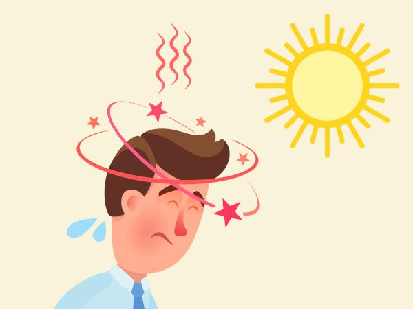Morire di caldo, colpo di calore, attenzione ai giramenti di testa.